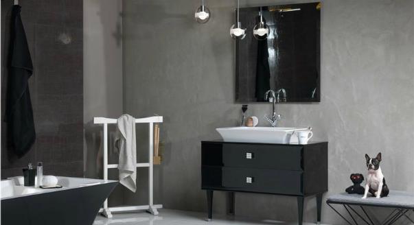 Дизайн ванных комнат в черно-белых тонах