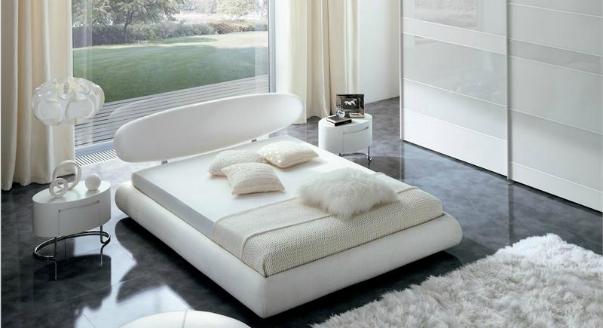 24 спальни с белой мебелью