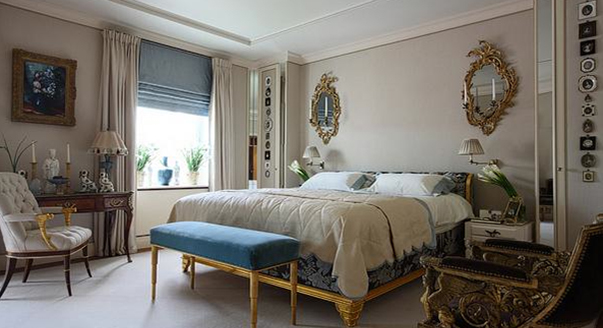 римская штора фото в спальню