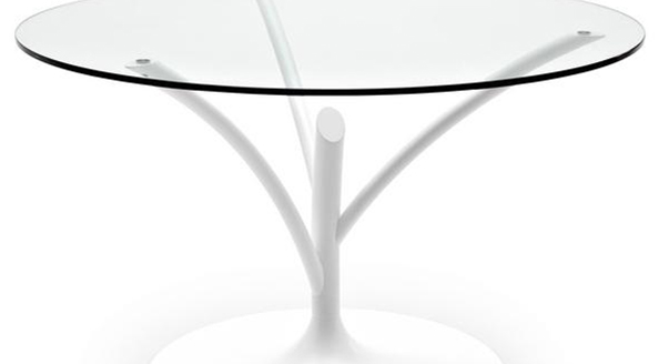 Круглый журнальный столик на одной ножке