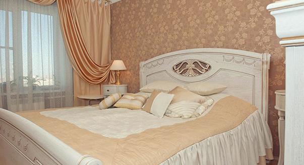 Дизайн шторы на одну сторону для спальни