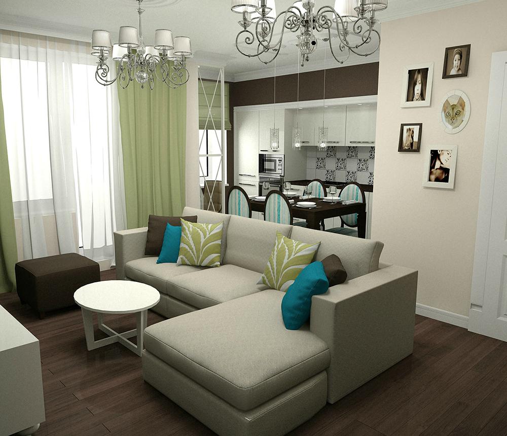 схема расположения 2х комнатной квартиры