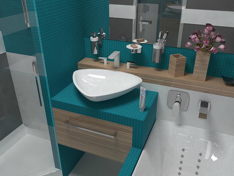 Ванна 4 кв.м дизайн с душевой кабиной