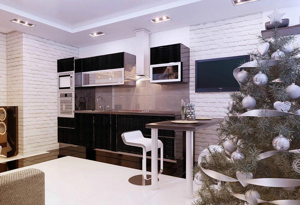 Дизайн гостиная студия