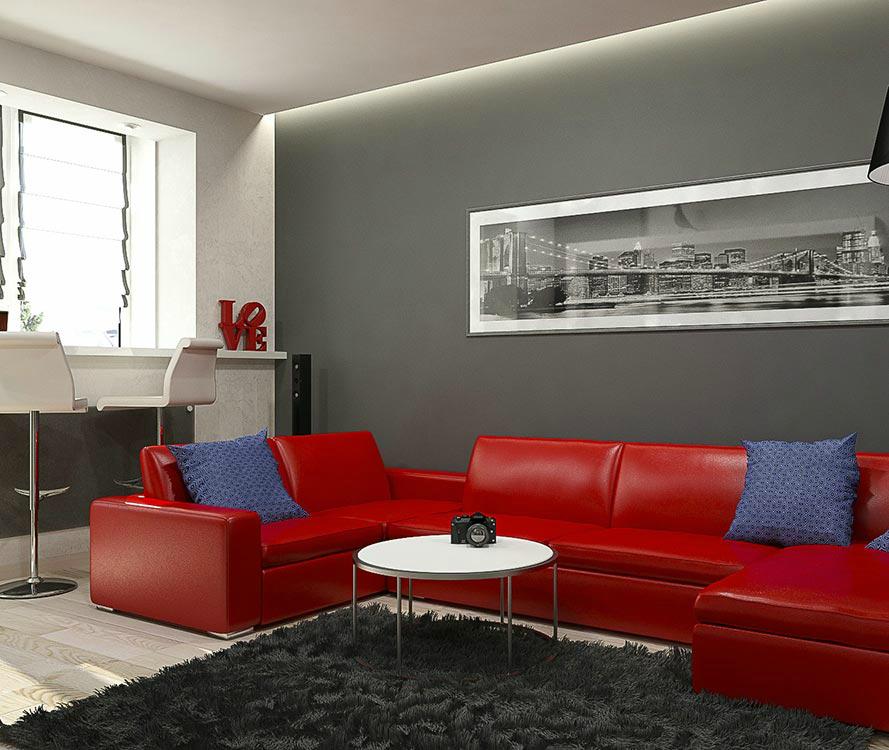 Офис в квартире дизайн