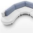 Диван Mandala corner sofa от фабрики Steiner PARIS, дизайн Manzoni Maurisio, Tapinassi Roberto.
