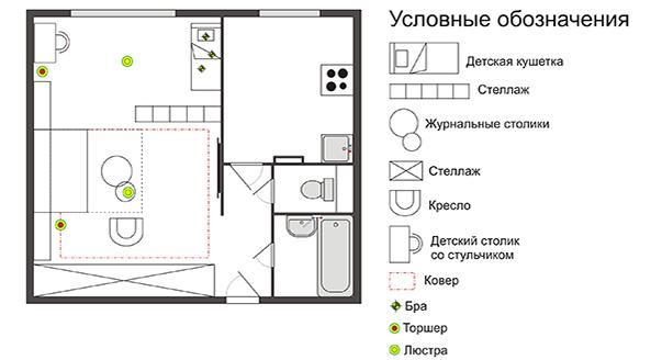 Дизайн 2 комнатной квартиры в хрущевке - фото интерьеров