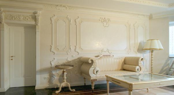лепнина в французском стиле для стен