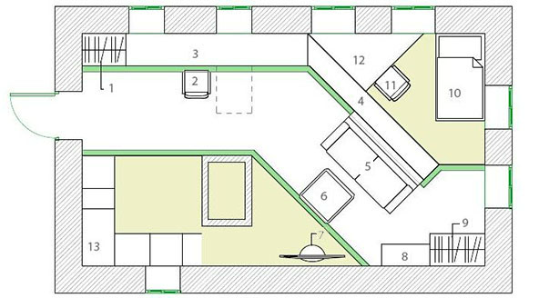 Планировка дома 6 на 7 с печкой планировка жилья