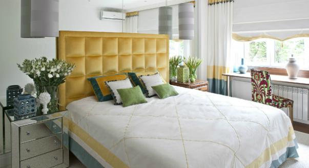 Дизайн желтой спальни