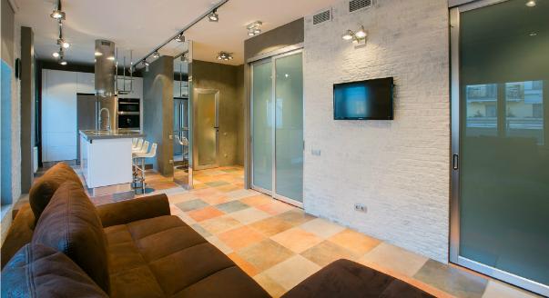 Дизайн однокомнатной квартиры в стиле лофт фото
