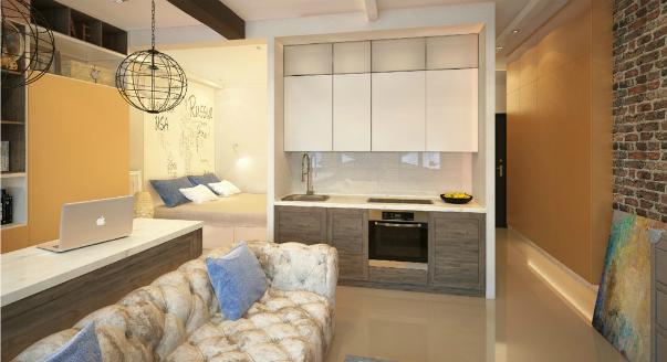 Маленькая однокомнатная квартира простой ремонт 4