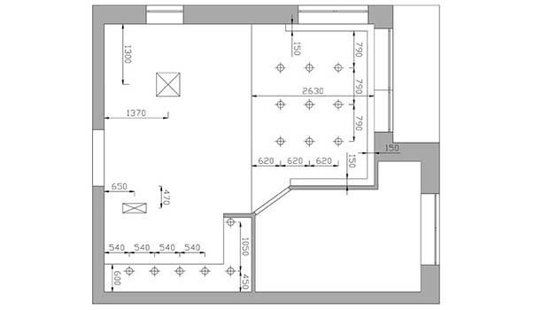 Схема освещения первого этажа