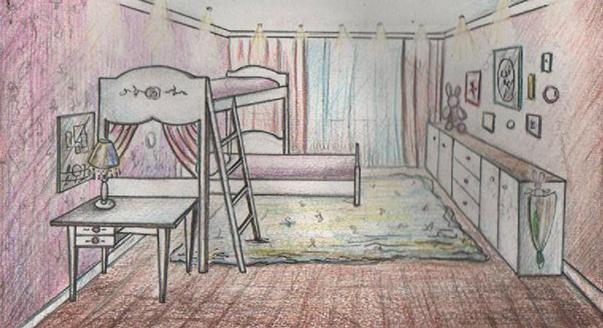 Дизайн однокомнатной квартиры троих