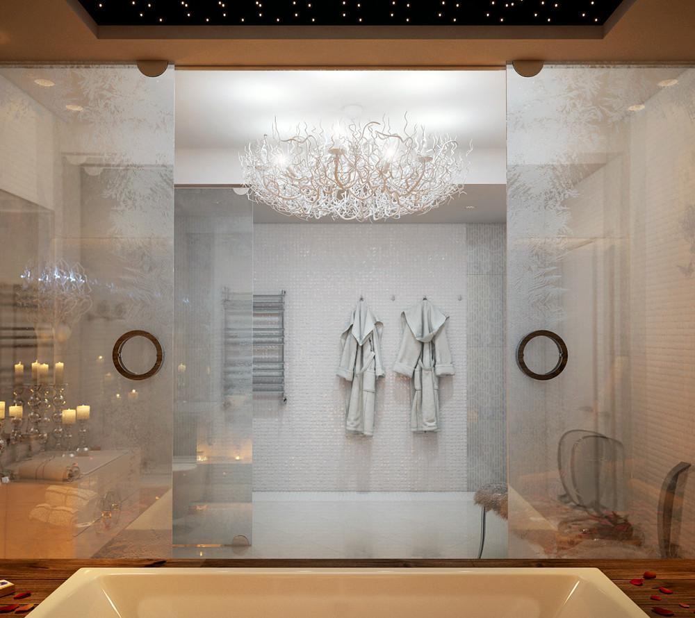 Ледяная Королева: дизайн ванной комнаты