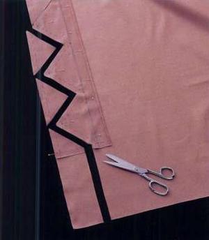 оборка для шторы своими руками