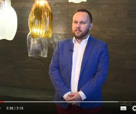 Хрустальный свет Preciosa Lightning. <br>Видео с выставки iSaloni WW Moscow 2015