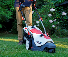 Leroy Merlin стрижет газон маневренно