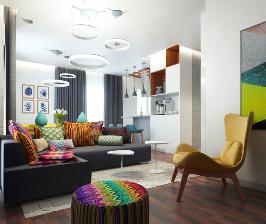 Русский дух: яркая и выразительная квартира в Дюссельдорфе для семьи с детьми