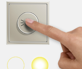 JUNG регулирует температуру и яркость одним движением