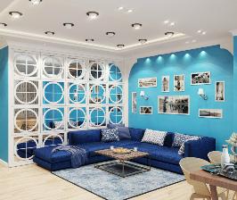 Яркая жизнь: проект квартиры для семейной пары