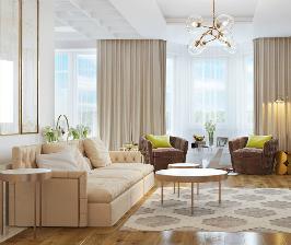 Нежность и стиль: интерьер квартиры от студии LK-Design