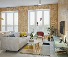 Красочный интерьер в скандинавском стиле: проект студии Точка дизайна