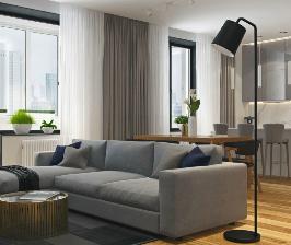 Квартира для молодой семейной пары: проект студии дизайна Geometrium