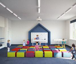 Студия GAFA Architects разработала интерьерные решения для нового типа детских садов