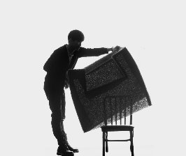 Кресло-«обманка» на фестивале Designersblock London 2009