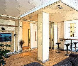Квартира-студия: как совместить гостиную со столовой?