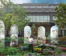 Сад площадью 300 кв. м. появится перед ЦУМом