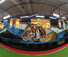 В московском метро появился состав, оформленный с использованием оборудования HP Latex 570