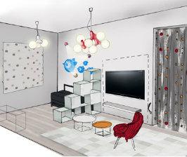 Дизайн интерьера однокомнатной квартиры: планы и фото