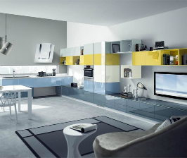 Кухонные фасады из стекла