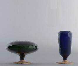 Пробка + стекло = ваза