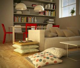 Столик на подушках