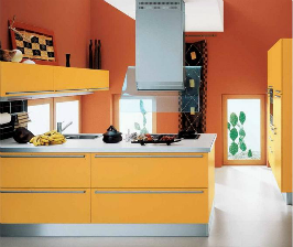 <strong>16</strong> оранжевых кухонь