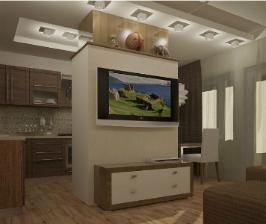 Как совместить кухню с гостиной?