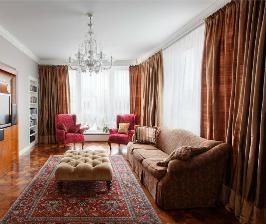 <strong>15</strong> вариантов штор для классической гостиной