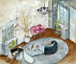 Два кабинета в одной гостиной