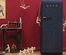 Джинсовый холодильник