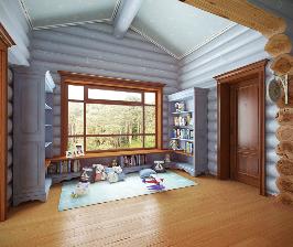 Дом из оцилиндрованного бревна: проект Сергея Ожогина