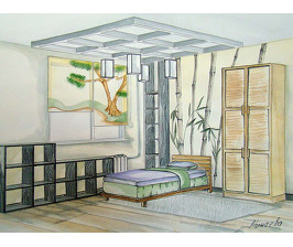 Детская в трехкомнатной квартире в П-30:  проект Татьяны Минаевой