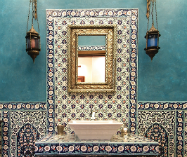 Ванная в стиле этно