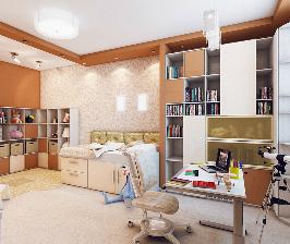 Трешка с многофункциональной детской комнатой: проект Ирины Заверталюк