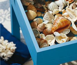 «Морской» столик-витрина