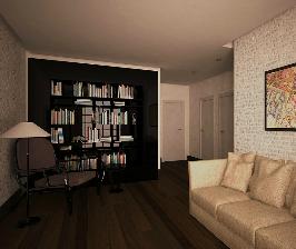 Однокомнатная квартира в стиле минималистичного лофта: проект Антона Часовикова