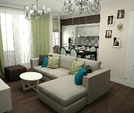 3-комнатная квартира с тремя спальнями и гостиной: проект Екатерины Анджинь и Ольги Гоман