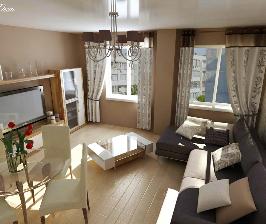 Двухуровневая квартира в монолитно-кирпичном доме: проект Анны Поминовой